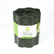 Flexible Plastic Lawn Edge 20cm x 9m in Dark Green Colour